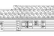 Ranch Style House Plan - 2 Beds 2 Baths 1001 Sq/Ft Plan #21-167 Exterior - Rear Elevation