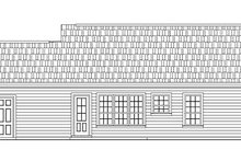Ranch Exterior - Rear Elevation Plan #21-167