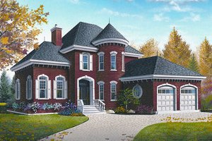 Architectural House Design - European Exterior - Front Elevation Plan #23-810