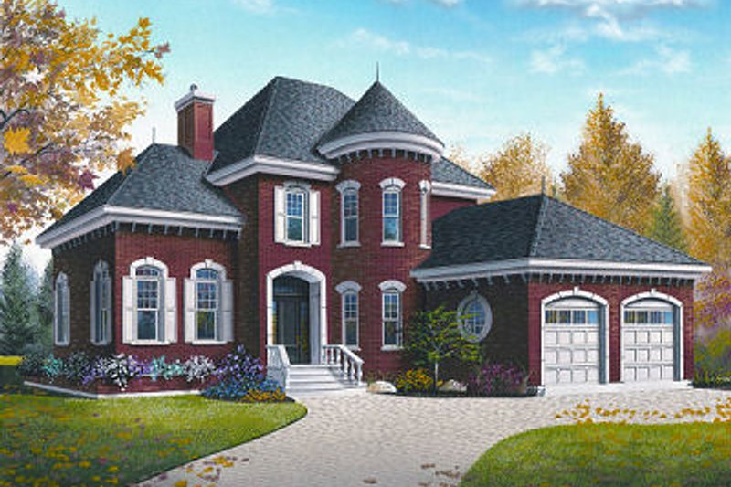 Home Plan - European Exterior - Front Elevation Plan #23-810