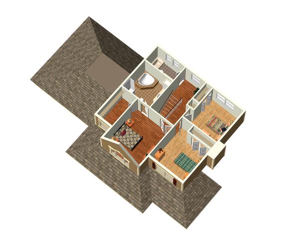 Country Floor Plan - Upper Floor Plan Plan #25-4318
