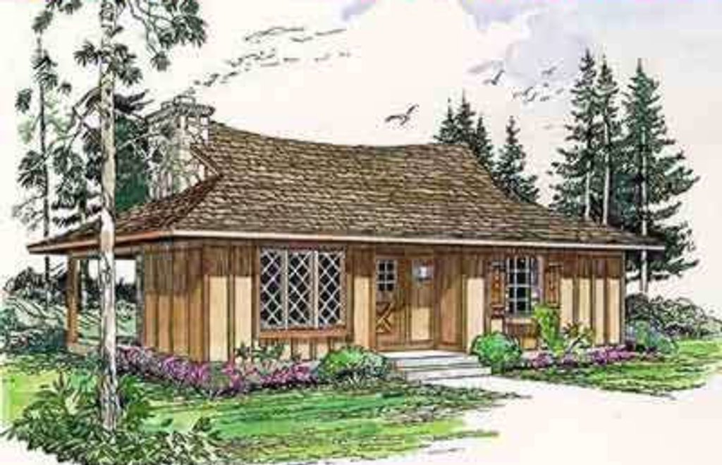 Cottage Style House Plan - 2 Beds 1 Baths 700 Sq/Ft Plan #116-115 on