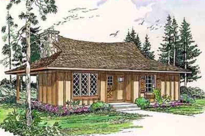 Cottage Style House Plan - 2 Beds 1 Baths 700 Sq/Ft Plan #116-115 Exterior - Front Elevation
