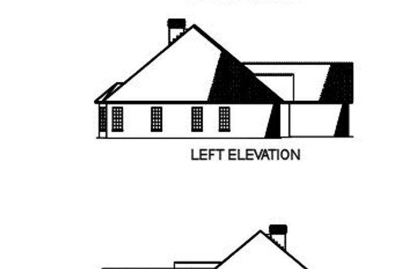 Traditional Exterior - Rear Elevation Plan #17-637 - Houseplans.com