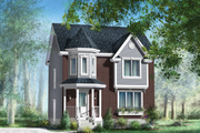 European Style House Plan - 3 Beds 1 Baths 1487 Sq/Ft Plan #25-4471 Exterior - Front Elevation