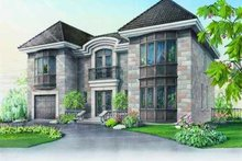 European Exterior - Front Elevation Plan #23-368