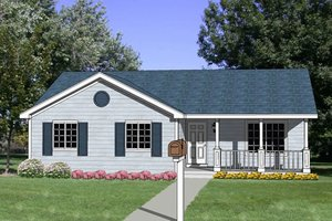 Ranch Exterior - Front Elevation Plan #116-241