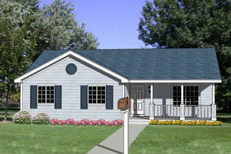 Ranch Style House Plan - 3 Beds 2 Baths 1192 Sq/Ft Plan #116-241 Exterior - Front Elevation