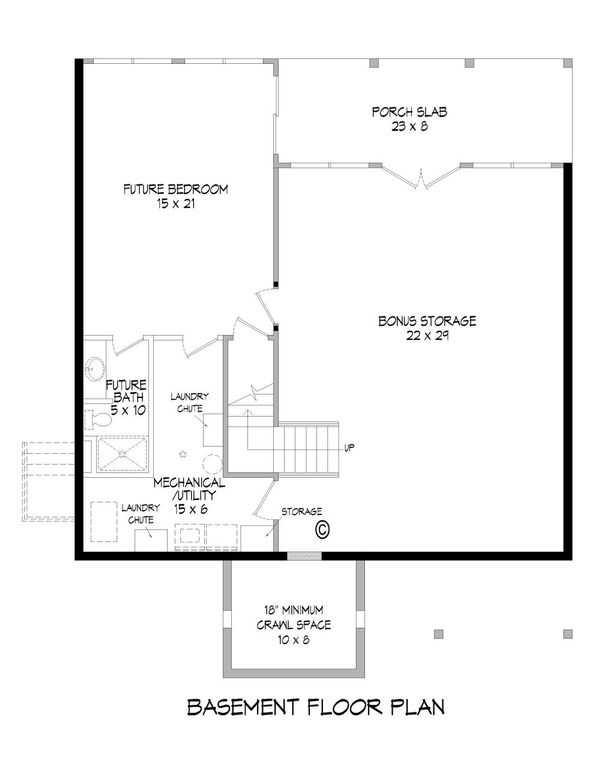 Country Floor Plan - Lower Floor Plan Plan #932-9