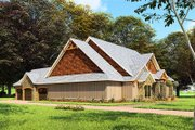 Craftsman Style House Plan - 3 Beds 2 Baths 3698 Sq/Ft Plan #923-162 Exterior - Other Elevation