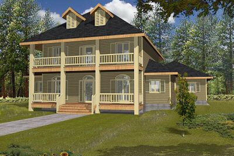 European Exterior - Front Elevation Plan #117-520 - Houseplans.com