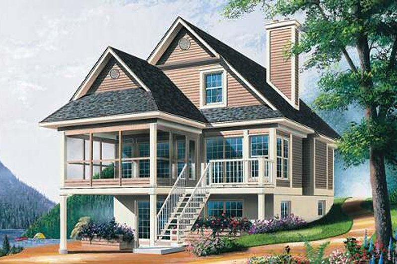 Home Plan - Farmhouse Exterior - Front Elevation Plan #23-495