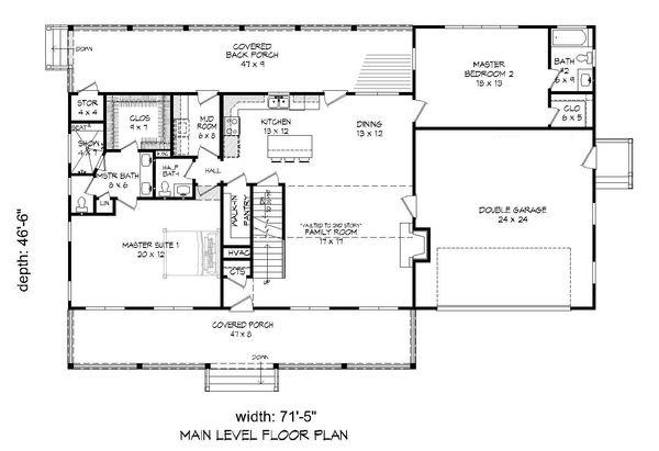 Country Floor Plan - Main Floor Plan #932-207