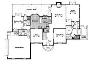 Colonial Style House Plan - 5 Beds 3.5 Baths 2750 Sq/Ft Plan #417-328 Floor Plan - Main Floor Plan