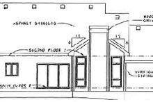 Home Plan Design - Traditional Exterior - Rear Elevation Plan #20-491