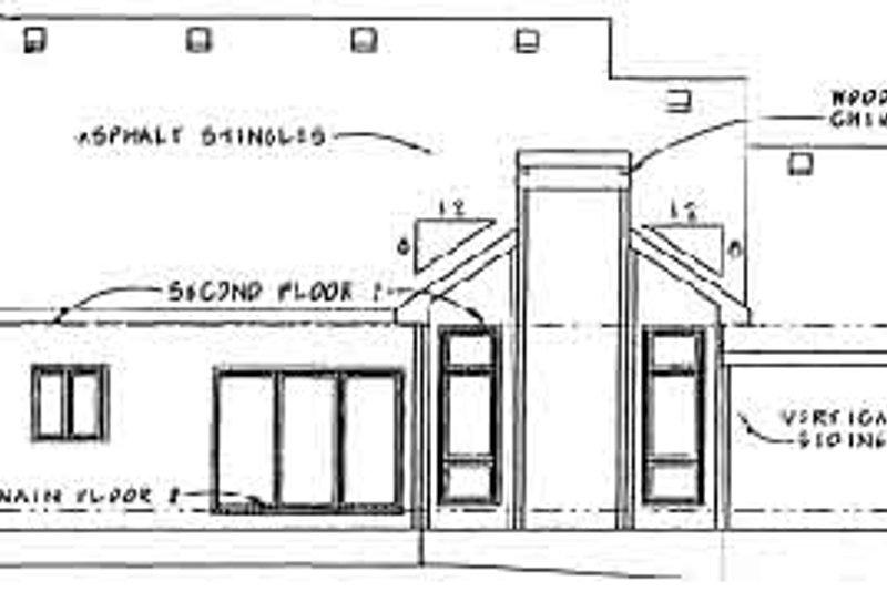 Traditional Exterior - Rear Elevation Plan #20-491 - Houseplans.com