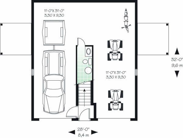 Country Floor Plan - Main Floor Plan Plan #23-756