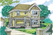 Farmhouse Style House Plan - 3 Beds 2.5 Baths 1681 Sq/Ft Plan #47-348 Exterior - Front Elevation