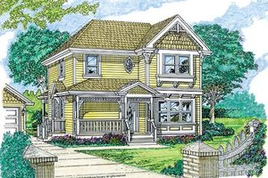 Farmhouse Exterior - Front Elevation Plan #47-348