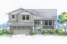 Home Plan - Craftsman Exterior - Front Elevation Plan #53-613