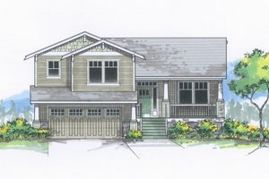 Architectural House Design - Craftsman Exterior - Front Elevation Plan #53-613