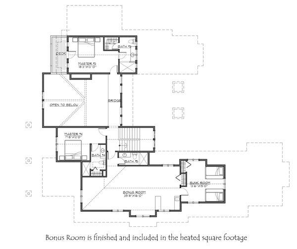 House Plan Design - Craftsman Floor Plan - Upper Floor Plan #892-27