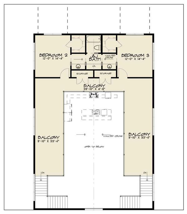 Country Floor Plan - Upper Floor Plan Plan #17-2599