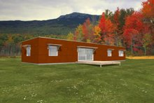 Modern Exterior - Front Elevation Plan #497-17
