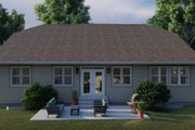 Ranch Style House Plan - 3 Beds 2 Baths 2056 Sq/Ft Plan #1060-101 Exterior - Rear Elevation