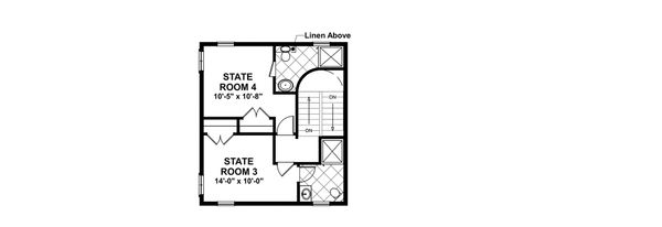 Craftsman Floor Plan - Upper Floor Plan Plan #56-714