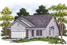 Architectural House Design - Traditional Exterior - Front Elevation Plan #70-661