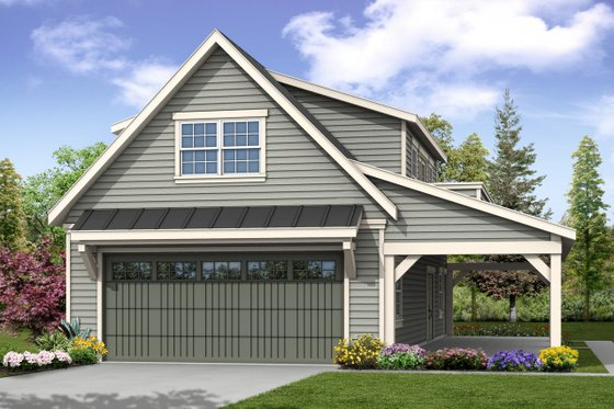 Craftsman Exterior - Front Elevation Plan #124-1038