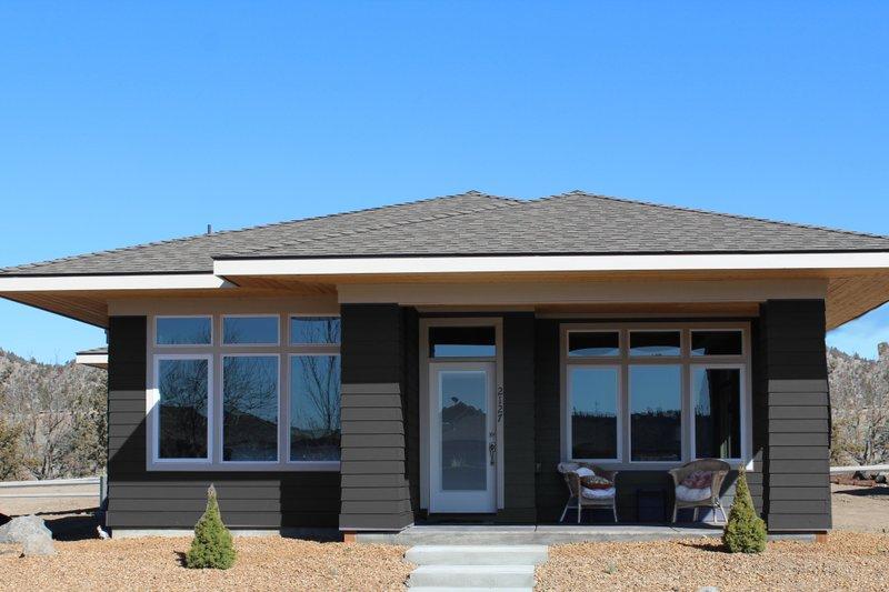 Architectural House Design - Prairie Exterior - Front Elevation Plan #895-119