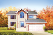 Traditional Style House Plan - 4 Beds 2.5 Baths 2575 Sq/Ft Plan #25-4240 Exterior - Front Elevation
