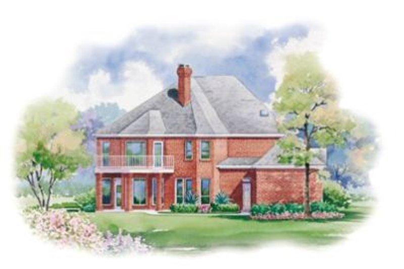 European Exterior - Rear Elevation Plan #20-1125 - Houseplans.com