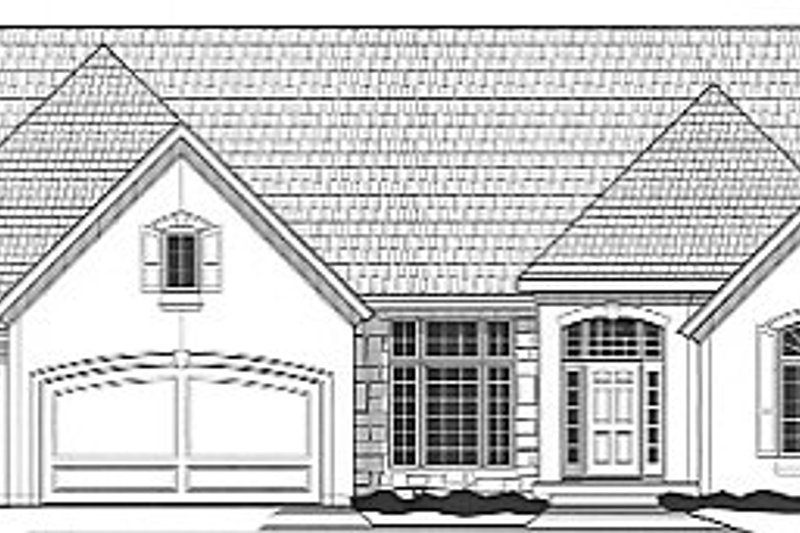 European Style House Plan - 3 Beds 3 Baths 3220 Sq/Ft Plan #67-686 Exterior - Front Elevation