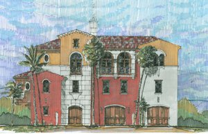 Beach Exterior - Front Elevation Plan #426-5