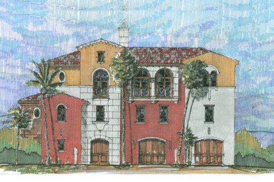 Beach Exterior - Front Elevation Plan #426-5