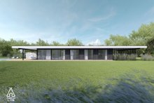 House Plan Design - Modern Exterior - Rear Elevation Plan #552-7