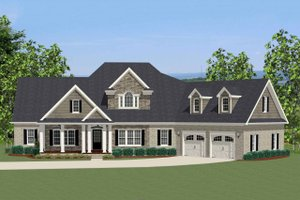 Craftsman Exterior - Front Elevation Plan #898-2