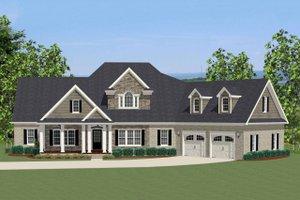 Craftsman Exterior - Front Elevation Plan #898-2