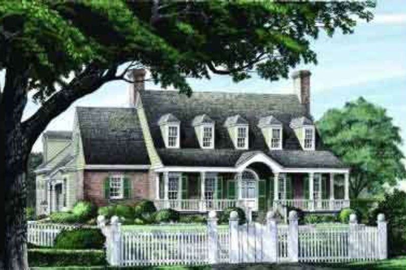 Southern Exterior - Front Elevation Plan #137-235 - Houseplans.com