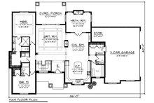 Ranch Floor Plan - Main Floor Plan Plan #70-1277