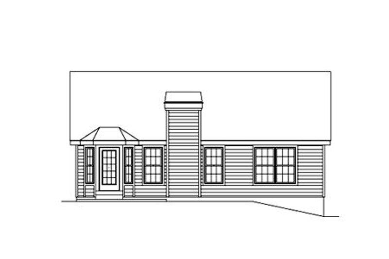 Traditional Exterior - Rear Elevation Plan #57-180 - Houseplans.com