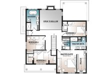 Farmhouse Floor Plan - Upper Floor Plan Plan #23-2725