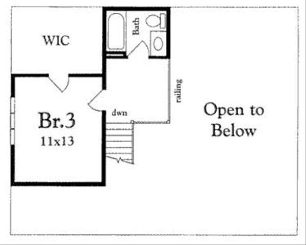 Cottage Floor Plan - Upper Floor Plan #409-107