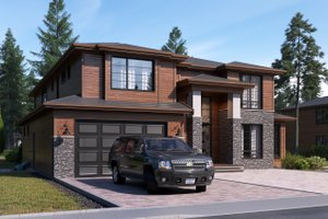 House Design - Contemporary Exterior - Front Elevation Plan #1066-17