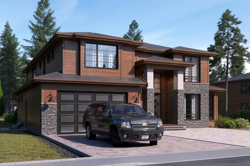 Dream House Plan - Contemporary Exterior - Front Elevation Plan #1066-17