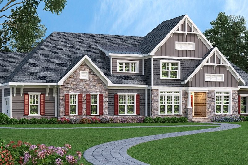 Dream House Plan - Traditional Exterior - Front Elevation Plan #419-271