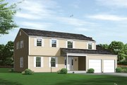 Colonial Style House Plan - 5 Beds 2.5 Baths 2366 Sq/Ft Plan #57-556 Exterior - Front Elevation